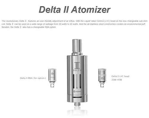 JoyeTech Delta II ReBuild-Able Clearomizer Kit w/ AirFlow Control!