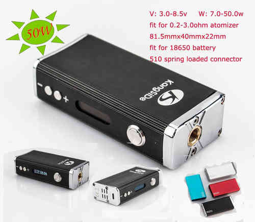 KSD S500 Mini 50W Box Mod (Advanced Personal Vaporizer) A.P.V. Variable Wattage!!!