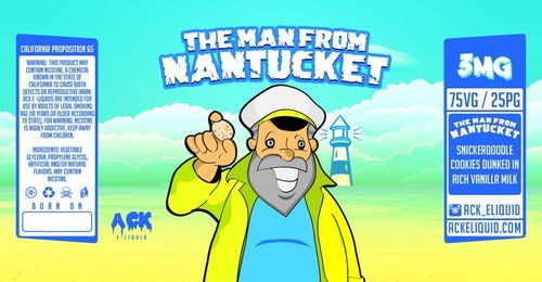 The Man From Nantucket (Snickerdoodle, Vanilla, Milk) 60ML By Ack E-Liquid