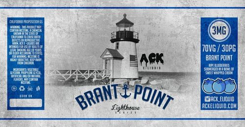 Brant Point (Blueberry, Cream) 30ML By Ack E-Liquid