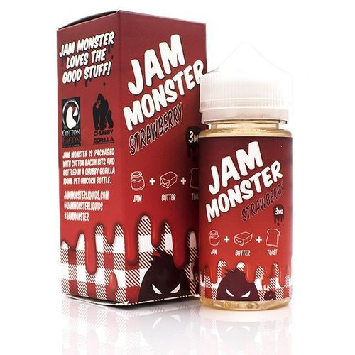 Strawberry Jam Monster 100ML By Jam Monster E Liquids