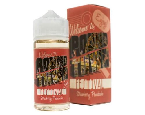 Festival (Strawberry, Pound Cake)  Pound Town E Liquid