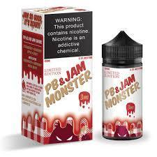 Strawberry PB&J Jam Monster 100ML By Jam Monster E Liquids